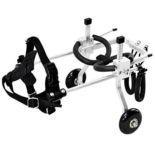 La Silla De Ruedas para Perros De Aleación De Aluminio Ajustable En 2 Ruedas Se Utiliza para Restaurar Las Patas Traseras De Las Mascotas Y Es Adecuada para Mascotas con Discapacidades Y Fragilidad.