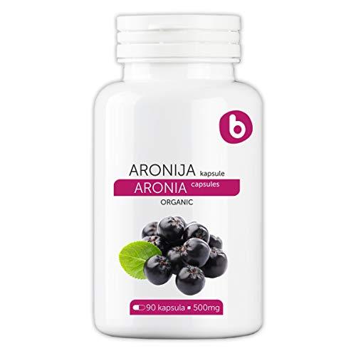 Bobica's PREMIUM European Organic Aronia Berry (Chokeberry) Capsules | 500 mg | 90 Vcaps® | Antioxidant Superfood, Anti-inflammatory, Immunity | Non- GMO Free, Gluten Free, Soy Free| For Vegetarians |