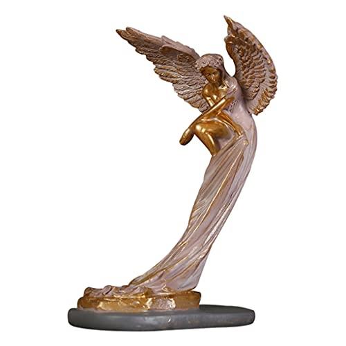 perfk Escultura de Ángel de Resina figurita 3D Figura de Ángel de la redención artesanías Sala de Estar TV gabinete hogar Dormitorio Iglesia Oficina