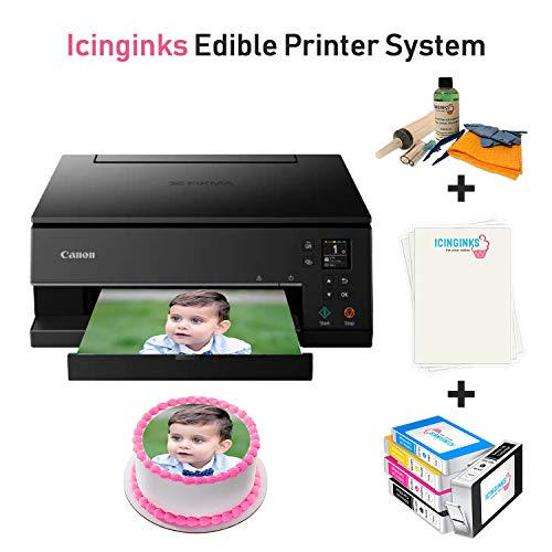 Cake Printer Bundle Package – Cake Image Printer, Ink Cartridges, Frosting Sheets, Cleaning Kit, Free Image Designing Lifetime, Printer for Cakes by Icinginks