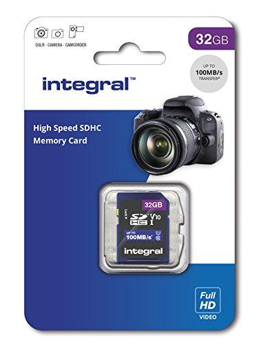 Integral Carte Mémoire 32Go SDHC Haute Vitesse jusqu'à 100MB/s Classe 10, V10, UHS1, U1
