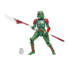 HOLIDAY-THEMED STAR WARS CHARACTERS: Celebrate the season with specially designed Star Wars figures from The Black Series, featuring holiday-themed deco and packaging (Each sold separately. Subject to availability) PREMIUM ARTICULATION AND DETAILING:...