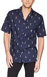 قميص نوم رجالي من نوتيكا مصنوع من القطن التقليدي المنسوج