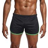 Sommer Shorts,Herren Nylon Mesh Sport Flat Angle Leichtathletik Hose Kurz Fitness Shorts Trainingshose Lässige Hose Beachshort (XL, Hellblau)