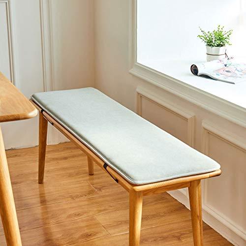 RUYII Cojín De Banco Asiento De Columpio Cojines De Silla Patio Muebles De Jardín Asiento Cojín De Esponja,Gray-35cm×150cm