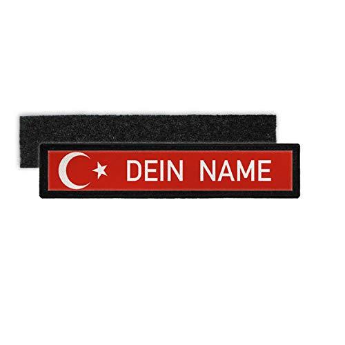 Copytec Türkei Namenschild Patch mit Namen Türkiye Türkische Fahen Halbmond Stern #24345