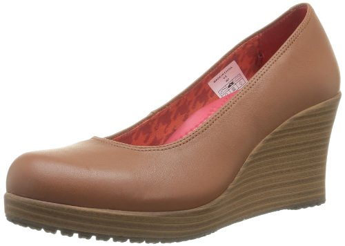 Crocs A-leigh Closed Toe Wedge 14700-2D8-460, Damen Pumps, Braun (Cinnamon/Walnut), 38.5 EU (W8)