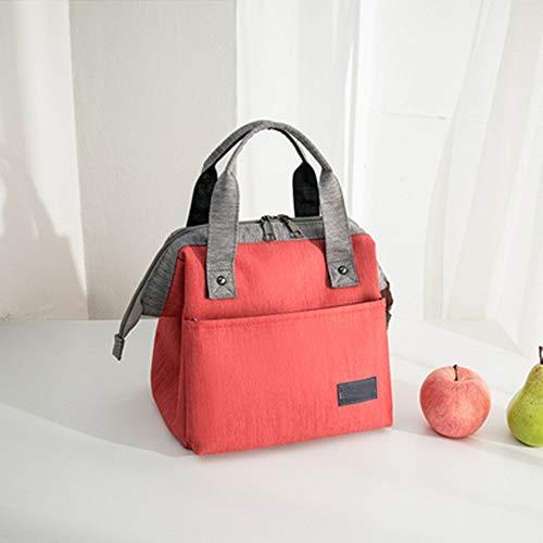 HSAW Kühltasche klein Kühlbox DREI-Schicht isoliert transportable Mittagessen-Beutel for Kinder und Erwachsene Multicolor Optional für Lebensmitteltransport Arbeit Picknick