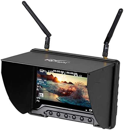 5 8Ghz FPV Monitor Black Pearl Flysight RC801 FPV Diversity Monitor7 Inch FPV Ground Monitor product image