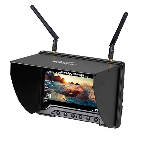 5.8Ghz FPV Monitor Black Pearl Flysight RC801 FPV Diversity Monitor7 Inch FPV Ground Monitor with DVR and HDMI Perfect FPV Performance Monitor for DJI Phantom Drone Inspire (RC801DSMA)