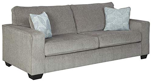 Signature Design by Ashley - Altari Modern Chenille Queen Sofa Sleeper, Light Gray
