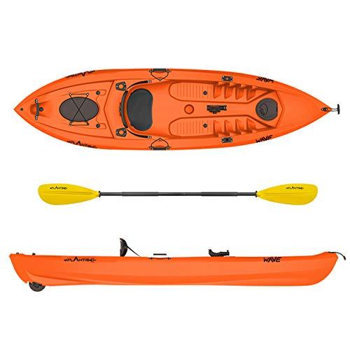 ATLANTIS Kayak-Canoa Wave Arancio cm 305-2 gavoni - schienalino - pagaia - ruotino - portacanna