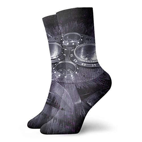 FETEAM Calcetines de equipo de cojín de tobillo alto Calcetines deportivos casuales de reloj de pulsera