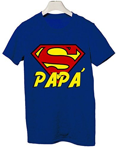 Tshirt Super papà - Festa del papà - Happy Father's Day - Tutte Le Taglie by tshirteria