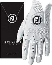 FootJoy Men's Pure Touch Limited Golf Gloves White Cadet Medium, Worn on Left Hand