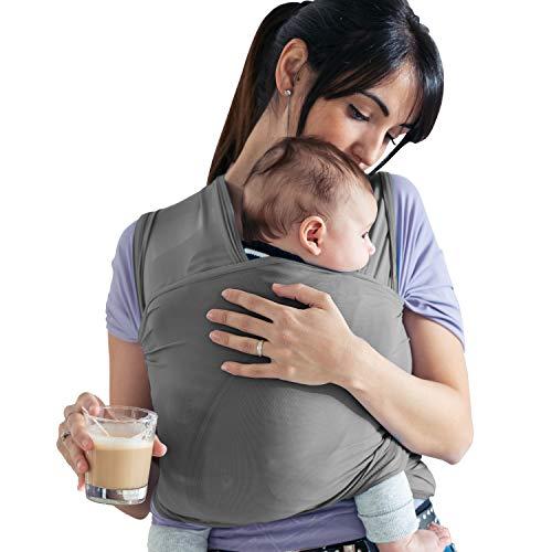 Lilly and Ben® Elastisch-es Tragetuch Baby - BIO-Baumwolle - Neugeborene-n Babytragetuch Tragesystem Babytrage