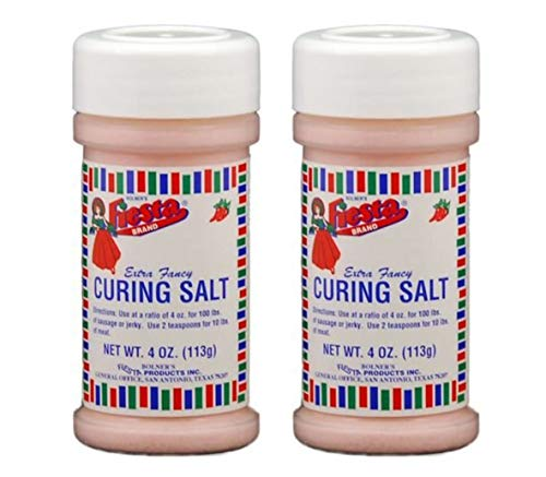 Bolner's Fiesta Curing Salt for Jerky, Sausages or Smoking Meats - 4 Ounce Bottle (Pack of 2)