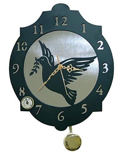 Arthifor - Reloj de Pared Paloma con péndulo y termómetro