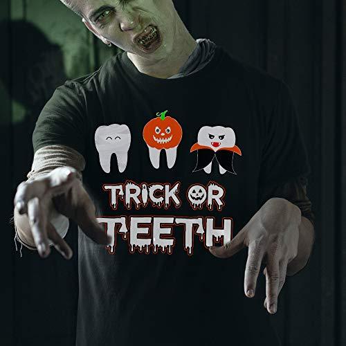 Dental Halloween Shirt Trick Or Treat Teeth Halloween Costume Trick Or Teeth T-Shirt Long Sleeve Sweatshirt Hoodie