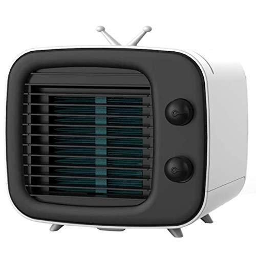 YJHH Ventilador Humidificador Aire Frio, Climatizador Evaporativo Portatil, Multifunción Rechargable USB Ruido Bajo 3 Ajustable Velocidades Fácil De Usar Hogares, Oficinas Etc
