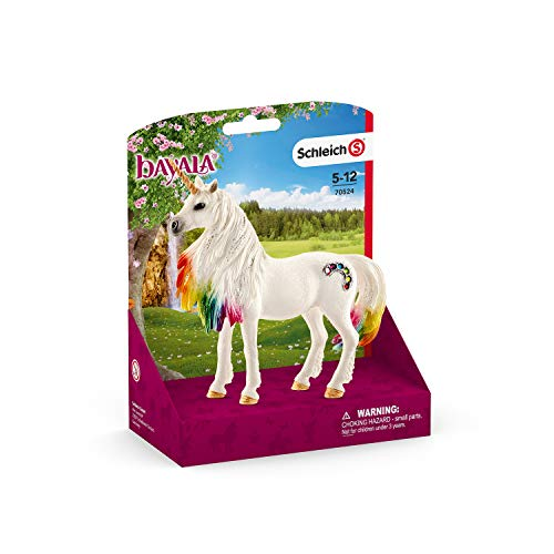 SCHLEICH bayala Rainbow Unicorn Mare Imaginative Toy for Kids Ages 5-12