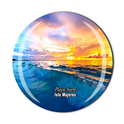 Playa Norte Isla Mujeres Mexico Fridge Magnet Souvenir Gift Crystal Magnetic Sticker Collection