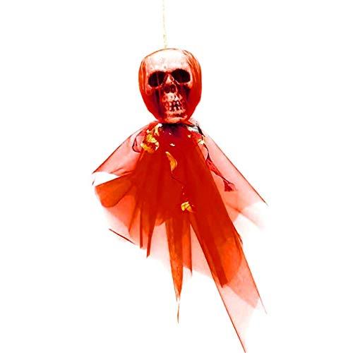 MOIX Halloween Girlanden Halloween Schädel Dekoration rot Geburtstag USB Farben led glühende