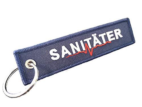 Sabasoft SANITÄTER Schlüsselanhänger - Blau, Rettungskräfte Rettungsdienst