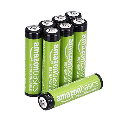 AmazonBasics - Batterie AAA ricaricabili, pre-caricate, confezione da 8 (l'aspetto potrebbe variare dall'immagine)
