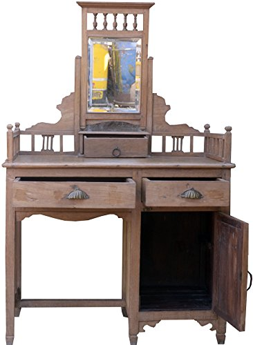 Guru-Shop Kaptafel, Kaptafelmeubel - Model 40, Bruin, 150x91x52 cm, Bureaus Schrijftafels