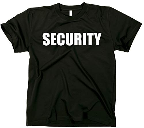 GunShowTees Security Two-Sided Event Safety Front and Back Print Shirt, Medium, Black