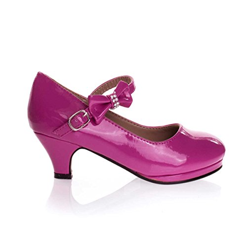 Forever Link Girls Dana 62k Dress Shoes Fuchsia, 1 Little Kid