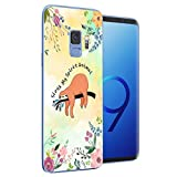 Compatible for Samsung Galaxy S9 Phone Case Cocomong Cute Sloth On The Tree Animal Design Flexible Protective TPU Phone Cover for Galaxy s9 Gift for Women Girls Men Anti-Drop-Scratch Shockproof Bumper