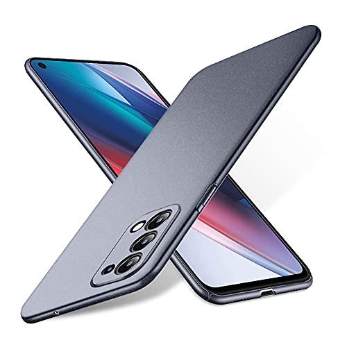 Bastmei für Oppo Find X3 Lite Hülle, extrem leichtes ultraleichtes superschlankes Kameraschutz-Hart-PC-Cover für Oppo Find X3 Lite. (Kies grau)