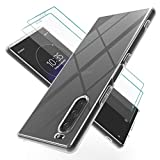Teayoha Clear Case for Sony Xperia 5 with Tempered Glass