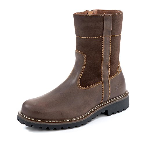 Josef Seibel Herren Stiefel Chance, Männer Winterstiefel, Man Freizeit leger Winter-Boots fellboots Fellstiefel gefüttert,Braun(Moro),43 EU / 9 UK