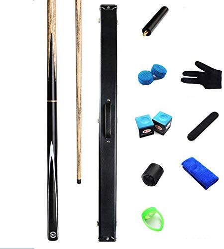 WEHOLY Pool Cues, 57 Inch 18oz Personalised Ash Snooker Cue 3/4 Joint Billard Rod with Cue Case Pool Cue