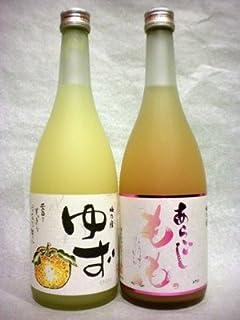 ゆず酒・あらごしもも酒 梅乃宿セット 各720ml 【奈良県 梅乃宿酒造】