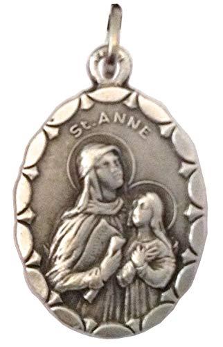 Medalla Ovalada de Santa Ana (Madre de la Santísima Virgen María) - Medallas de Santos Patronos