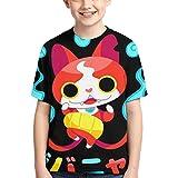 XCNGG Niños Tops Camisetas Boy T-Shirt Yo-Kai Watch 3D Printed Teenage Youth Boys Girls Short Sleeves XL