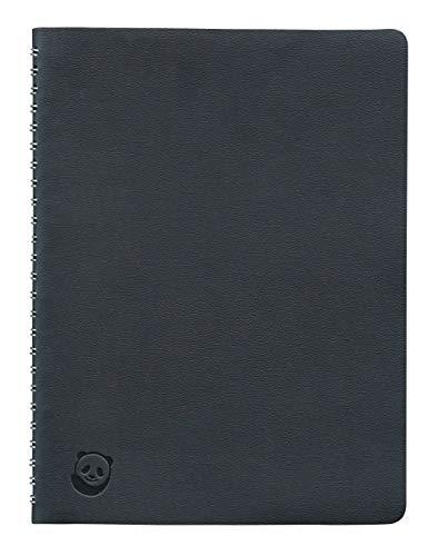 Notizbuch A5 von SmartPanda – Schwarz, Softcover mit drahtgebundener Spirale – Liniert, Executive, 160 Seiten, 100 g/m²