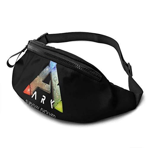 AOOEDM Riñonera Ark Survival Evolved, riñonera Deportiva de Viaje para Correr, riñonera Informal superligera para Hombres y Mujeres