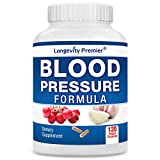Longevity Blood Pressure Formula [120 Capsules] - with 12+ Natural...