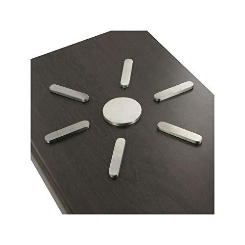 Repose plat soleil - Epaisseur : 5 mm - Matériau : Inox 304 L - Finition : Brossé - ITAR