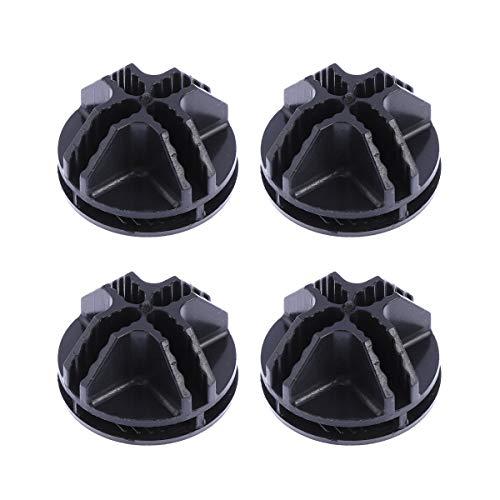 BESTOMZ Conector de Cubo de Rejilla de 20 Piezas Conectores de plástico para estantería de Almacenamiento de Cubo de Alambre (Negro)