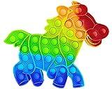 Fidget Toy Juguete Antiestres, Pop It Sensorial Caballo para Niños y Adultos, Bubble Push Pop it Dino, Juguetes Antiestrés de Explotar Burbujas para Aliviar estrés y Ansiedad.