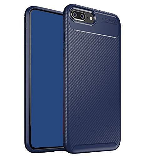 ZSCHAO Funda para iPhone 7 Plus Fibra de Carbono Silicona Slim Fina...