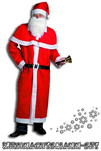 Idena Kerstman kerstman kostuum 5-delig + bel 20 cm