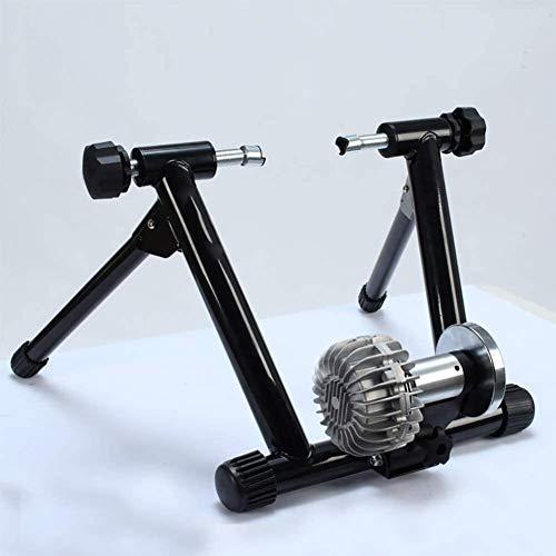 LAZNG Stand de Bicyclette à vélos, bicyclettes magnétiques Stand State for Exercices d'intérieur, réduction du Bruit de Bruit Calme et Bloc de Roue Avant, Noir