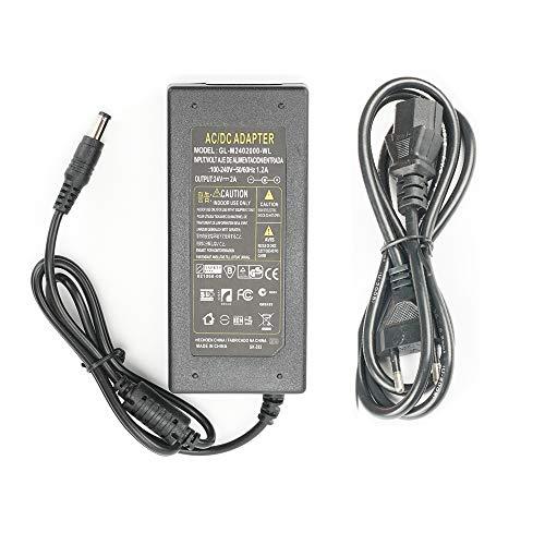 Fuente de Alimentación 24V 2A 48W Transformador para Tiras LED,Cámara,LCD de TFT